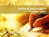 Sign financial documents PowerPoint templates