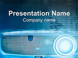 Projector for Presentations PowerPoint template